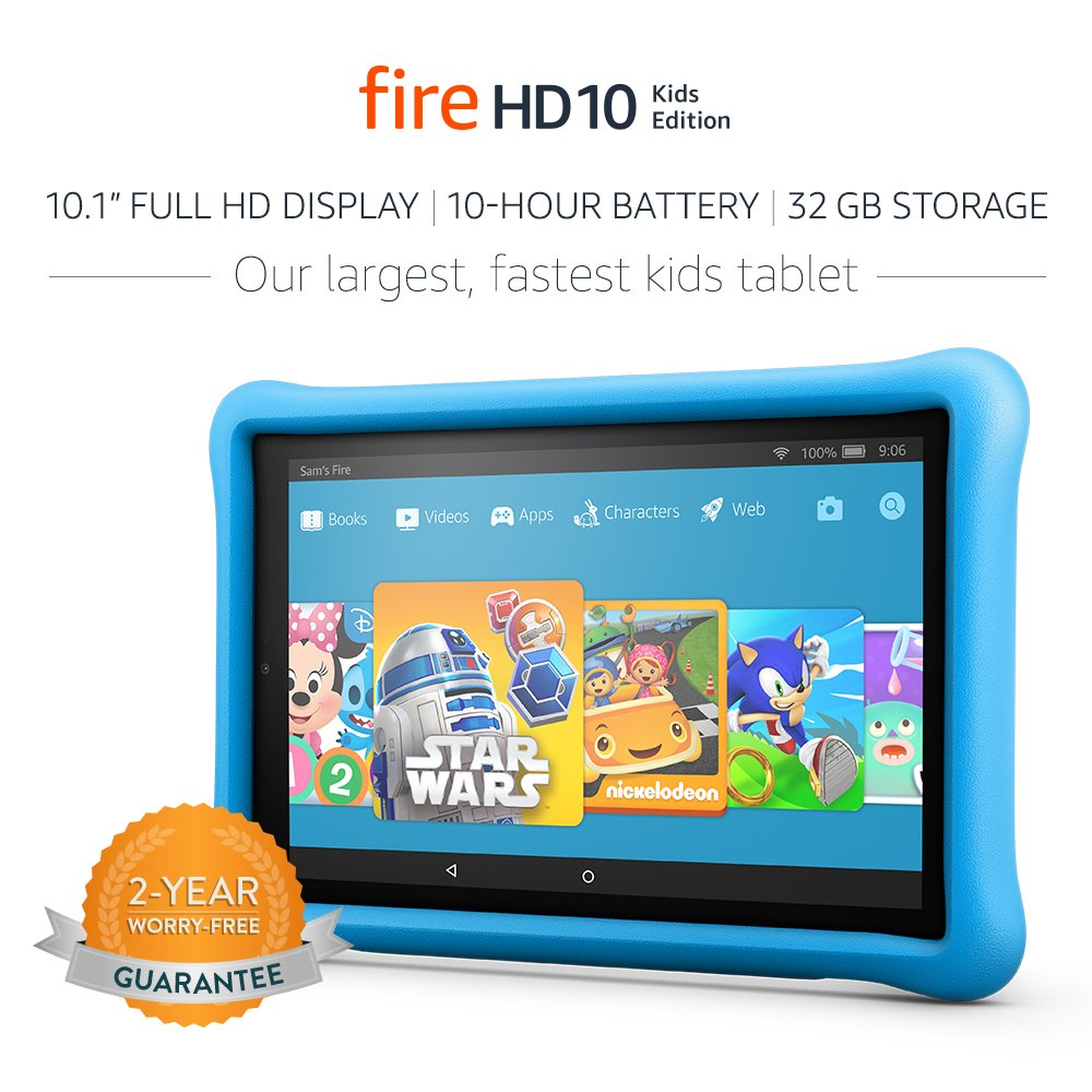 Amazon Fire HD 10 Kids Edition Tablet - 32GB, Blue