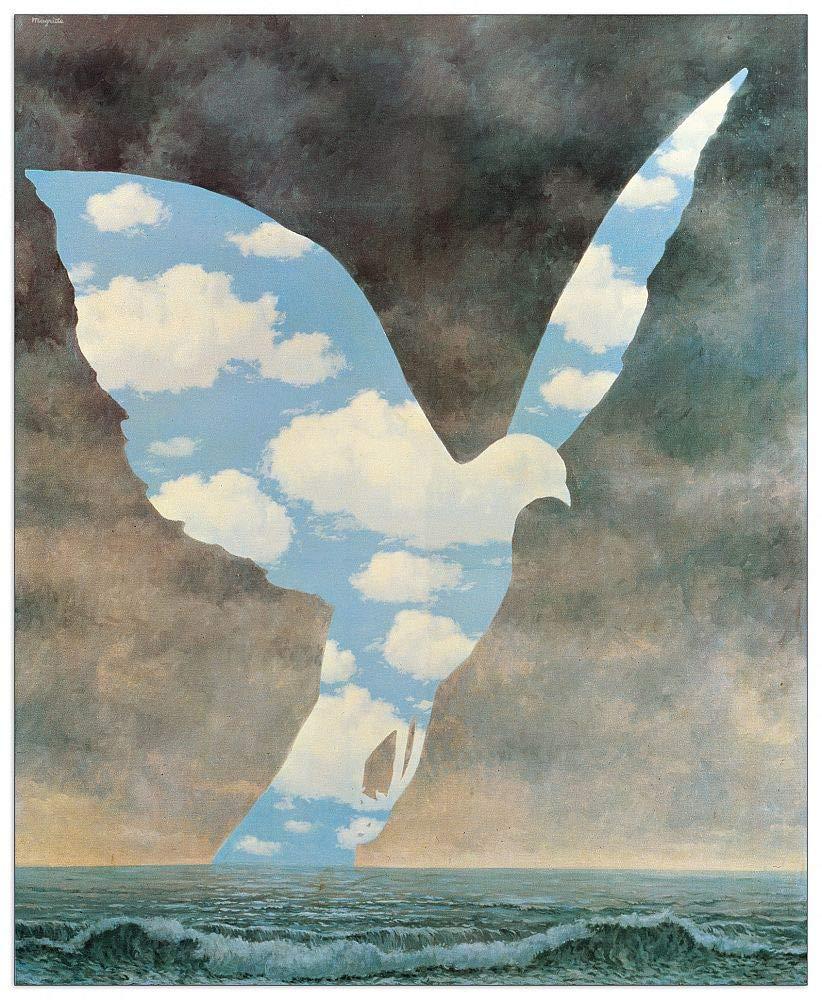 Artopweb TW16579 Magritte - La Grande Famille Dekorative Paneele, Multifarbiert, 64x78 Cm