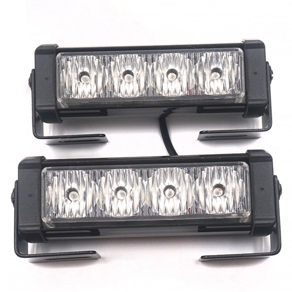 Linchview 2 x 4 LED 24 Watt 12V Auto Warnleuchten Strobe Blitzlicht ...