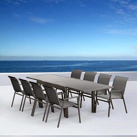 Salon de jardin aluminium Marbella: Amazon.fr: Jardin