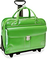 McKlein Lakewood Ladies' Leather Fly-Through Checkpoint-Friendly Detachable Wheeled Briefcase