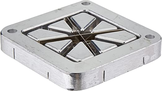 """Choice 1//4/"""" Stainless Steel Blade Assembly and Push Block for French Fry Cutters"""