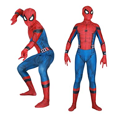 Spider Man Halloween Costume Adults.Cosplaylife Spiderman Homecoming Avengers Halloween Cosplay Costumes Adult Kids