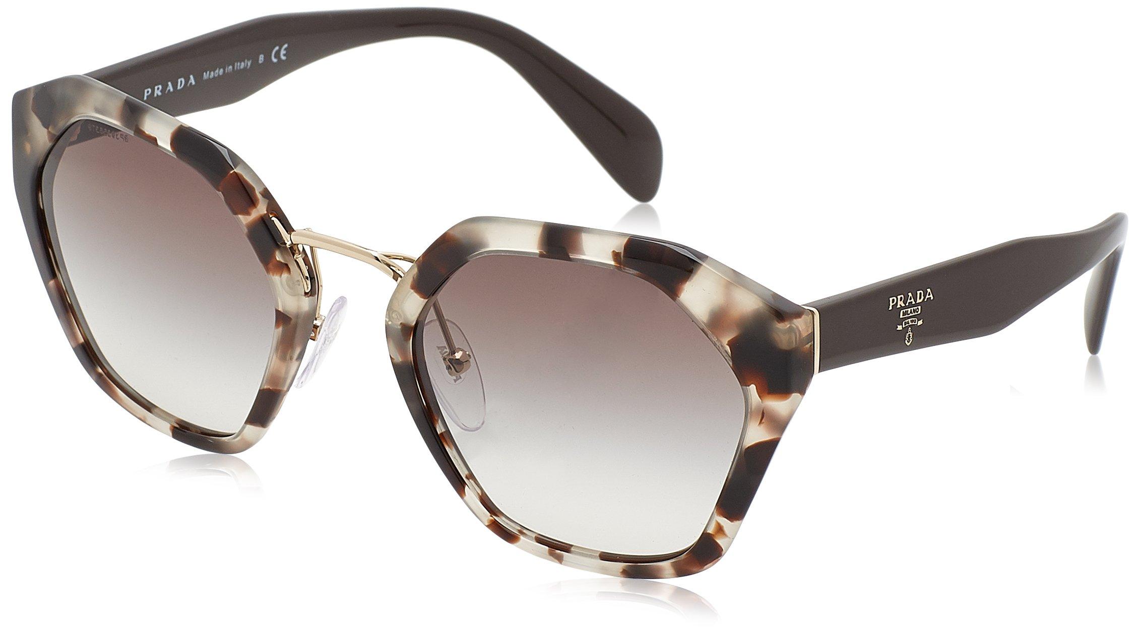 Prada Women's Geometric Sunglasses, Spotted Opal Brown/Grey, One Size