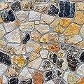 Futemo 3D Wallpaper Brick Stone Wall Sticker Rustic Effect Self-Adhesive Wall Sticker Home Decor