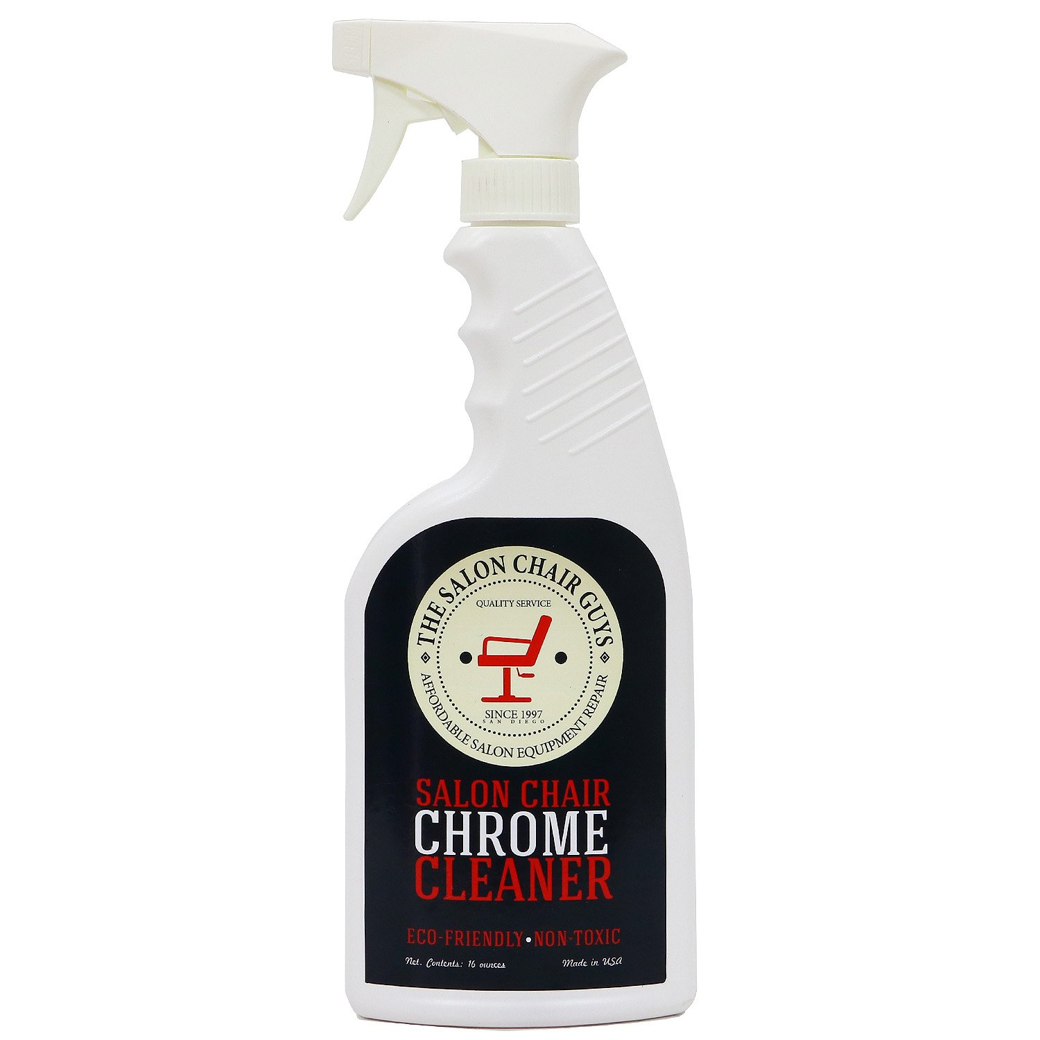 The Salon Chair Guys - Eco-friendly Salon Styling Chair Chrome Cleaner and Disinfectant (16oz)