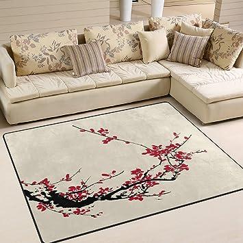 Amazon De Naanle Japanischer Vintage Teppich Fur Wohnzimmer