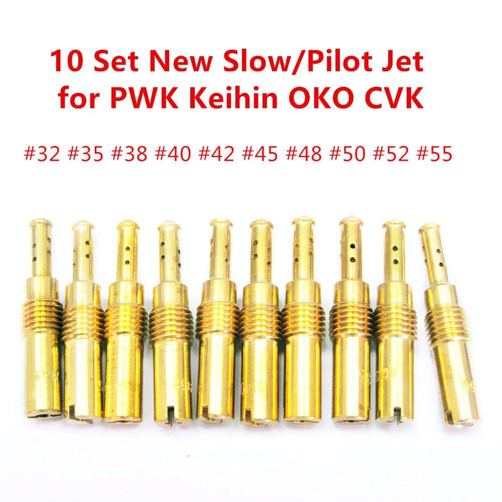 Ddbrand 20 Pi/èces Carburateur Buse Principale Kit Lente Gicleur pour Pwk Keihin Oko CVK
