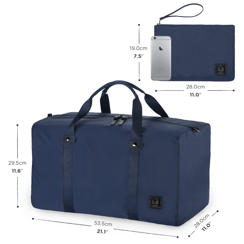 GAGAKU 45L Ultra Léger Sac de Voyage Imperméable Grand Pliable Bagages pour Sport - Noir AoR18MYMH