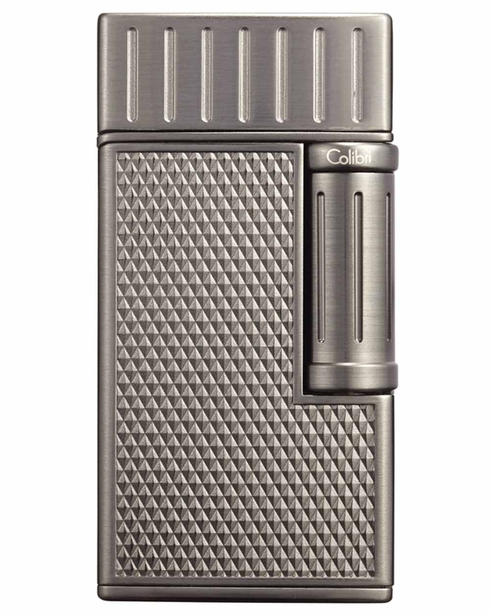 Julius Traditional Flame Cigar Lighter in an Attractive Gift Box with Leather Pouch Warranty Brushed Gunmetal