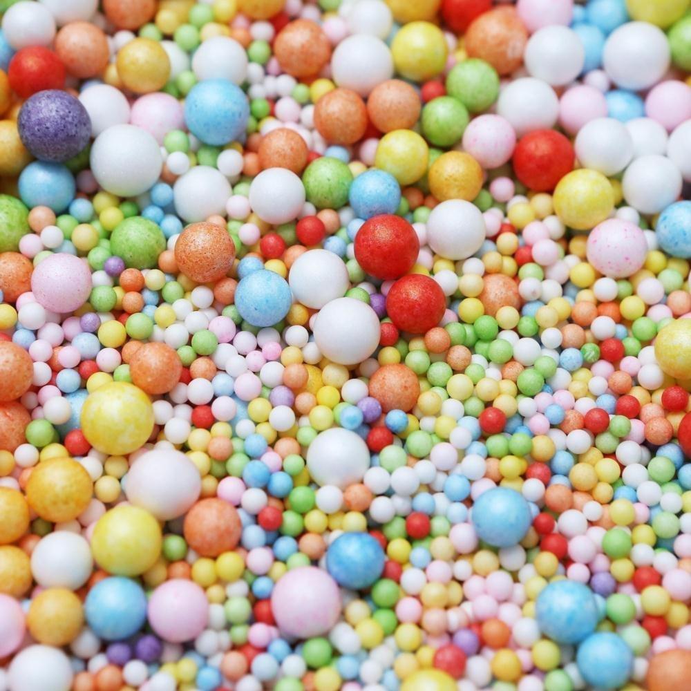 NALATI 2Pack Mini Balles en Mousse de Polystyrène DIY Décoration Jouet Educatif DIY Artisanal De Modélisation et Décoration (Multicolore)