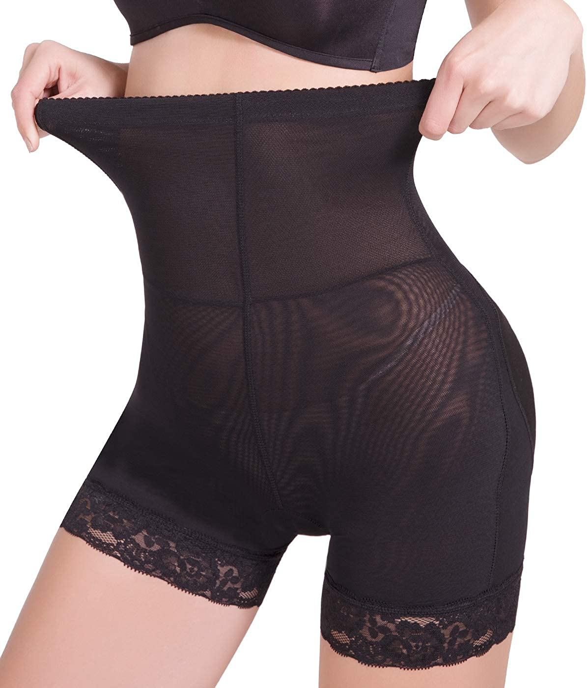 COMFREE Shaping Knickers for Women Control Brief Hip Enhancer Butt Lifter Shapewear Slimming Pants with Pad Firm Control Shaping Pants Butt Lifter Pants Tummy Control Knickers Black Beige
