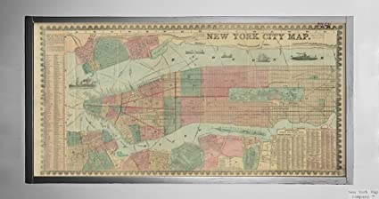 Amazon Com 1857 Map New York New York Jersey City New York City Map