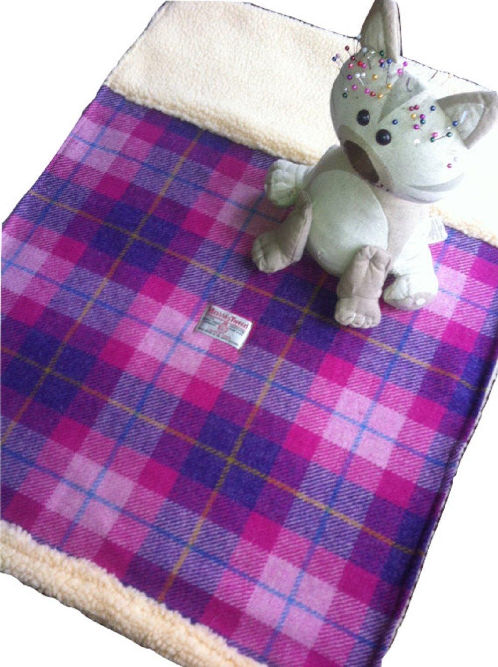 Baby Blanket - Pink Heidekraut Plaid Harris Tweed Hand gemacht in Schottland