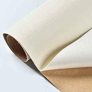 Leather Tape Self-Adhesive 3x58 Inch Leather Repair Patch for Sofas, Couch, Furniture, Drivers Seat (Beige)