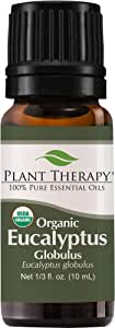 Plant Therapy Eucalyptus Globulus Organic Essential Oil | 100% Pure, USDA Certified Organic, Undiluted | 10 mL (1/3 oz)