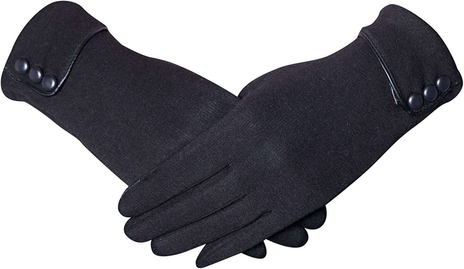 Nakerfop Womens Winter Gloves, Warm Fleece Windproof Touch Screen Gloves for Women Cold Weather Using
