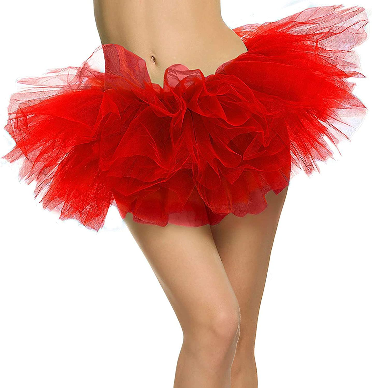 Women's Adult 5 Layered Tulle Tutu Mini Skirt