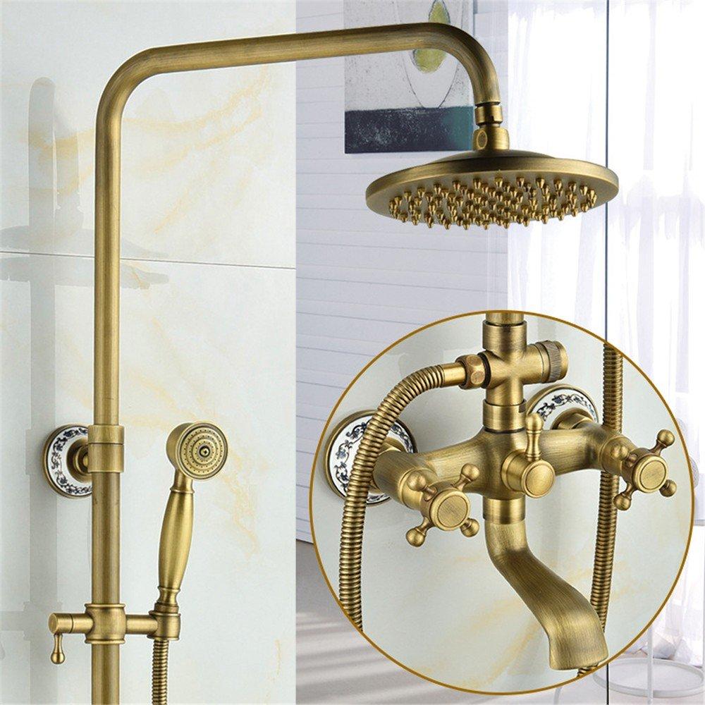 Seven - Pass Ceramic MIAORUI All copper antique shower suit European Black Bronze three block shower shower shower showers,Question mark Guan Qitong