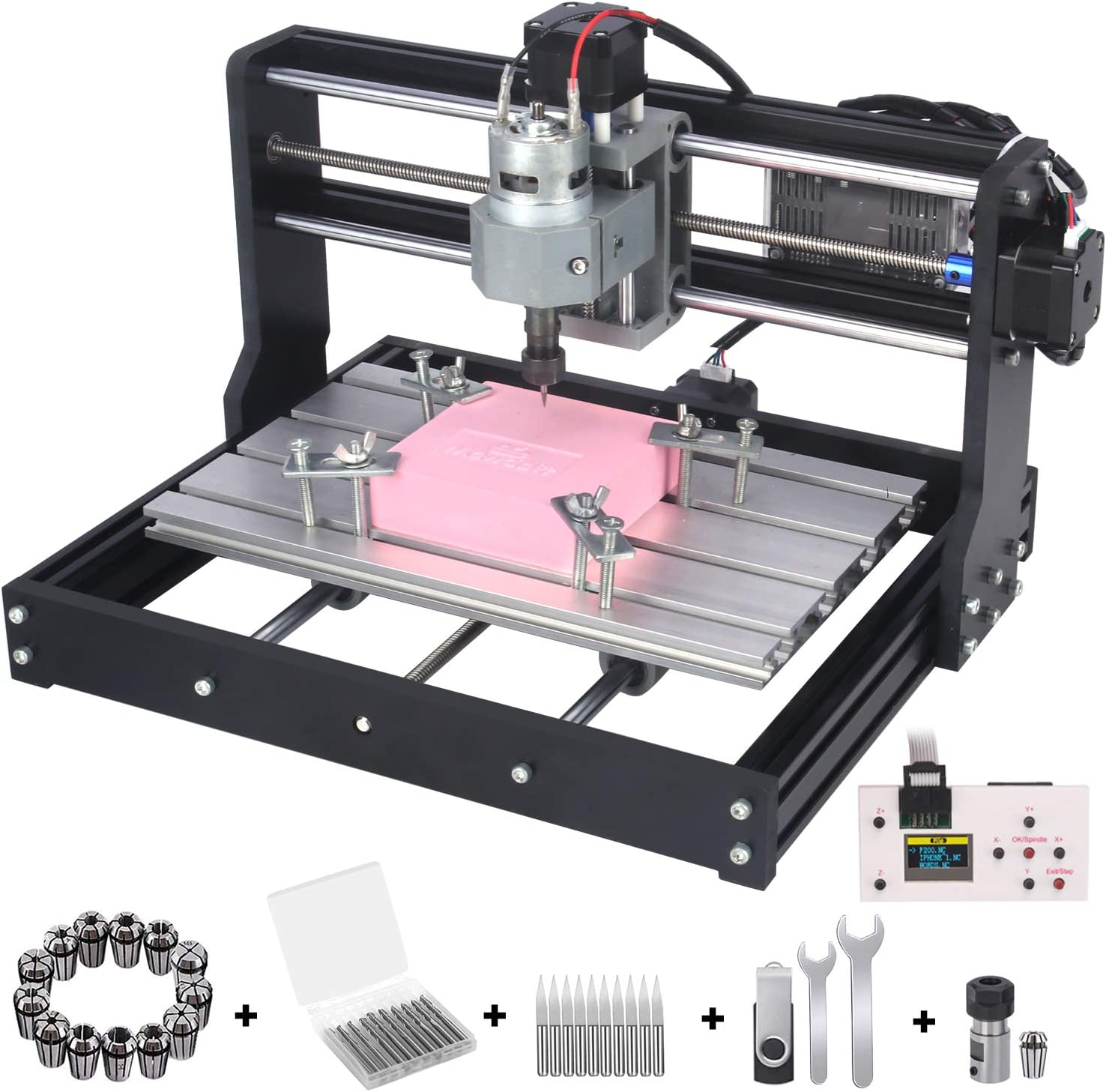 【US】 3 Axis DIY Mini 3018 GRBL Control CNC Laser Machine Milling Wood Router Kit
