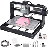 Upgraded Version 3018 Pro CNC Router Kit, Mcwdoit GRBL Control 3 Axis DIY CNC Engraving Machine, Wood Plastic Acrylic…