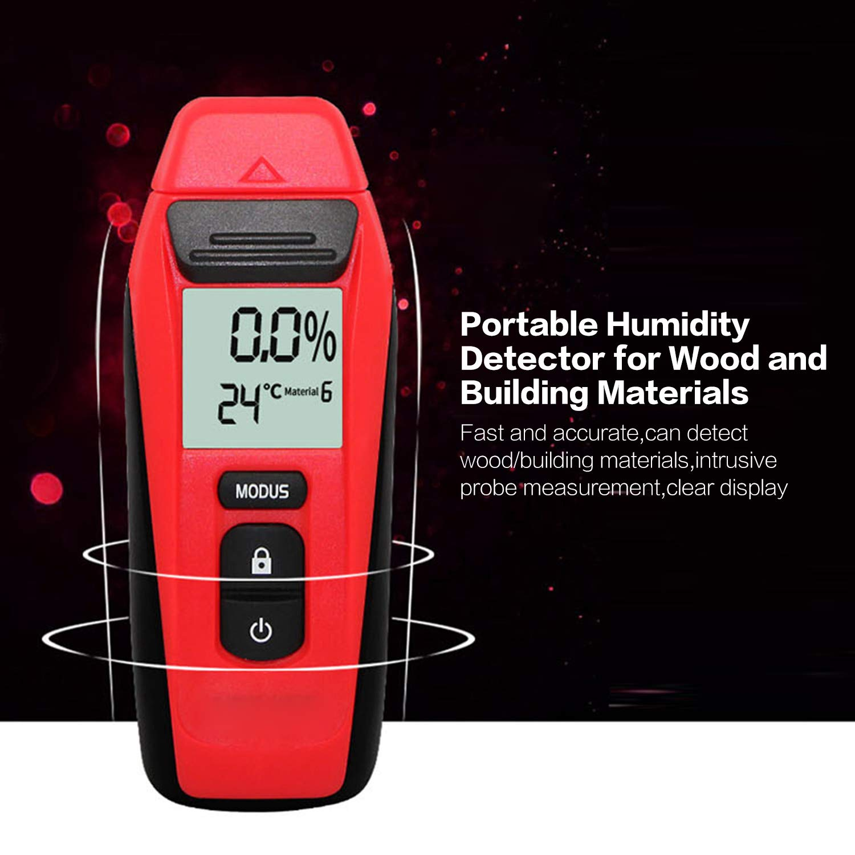 Digital Wood Moisture Meter Building Materials Wood Humidity Temperature Tester Timber Damp Detector Large LCD Display - - Amazon.com