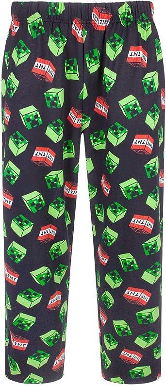 Minecraft Pajama Shorts for Boys Creeper TNT All Over Print
