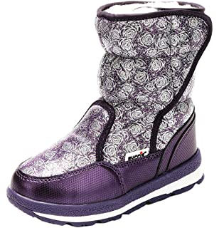 iDuoDuo Girls Sweet Princess Cold Weather Warm Toggle Snow Boot Toddler//Little Kid//Big Kid