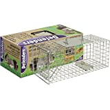 Defenders Animal Trap Cage (Easy to Set Humane Trap for Squirrels and Similar Sized Wildlife, Suitable for Indoor and Outdoor Use) - Small Size