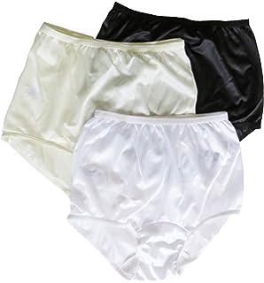 bc2fb544a05f Carole Brand - Women's Classic Nylon Panties Full Cut Briefs - Pack ...