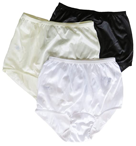6cfecac3e74 Carole Brand - Women s Classic Nylon Panties Full Cut Briefs - Pack ...