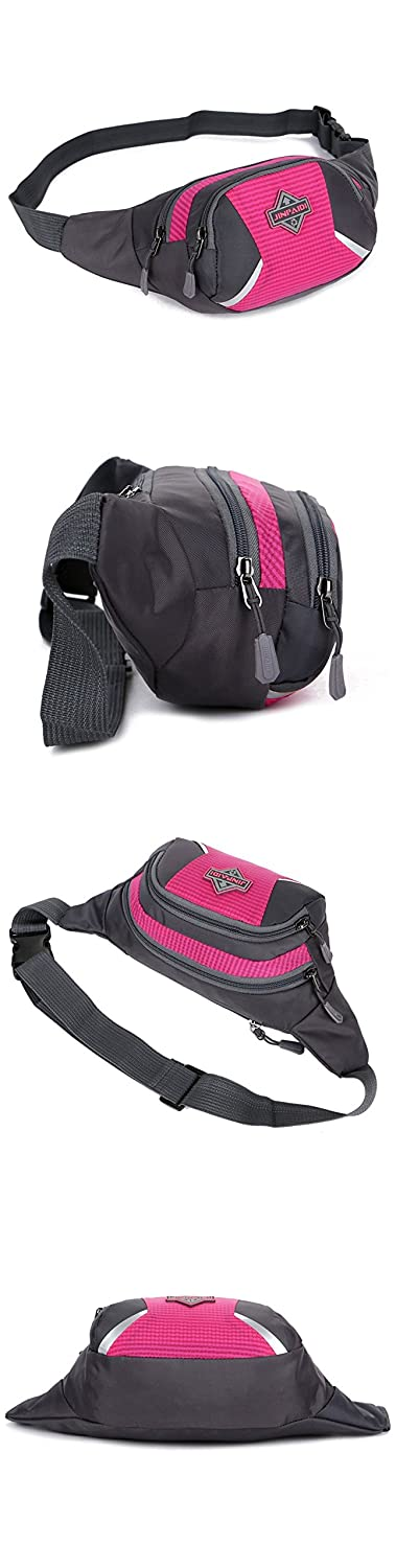 Waterproof Nylon Waist Pack Fanny Bag For Outdoors Running Camping Hiking Cycling