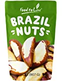 Food to Live Brazil Nuts (Whole, Shelled, Raw, Unsalted, Natural) (2 Pounds)