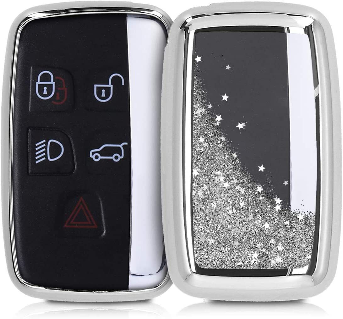 kwmobile Key Cover Compatible with Land Rover Jaguar - Stars Snow Globe