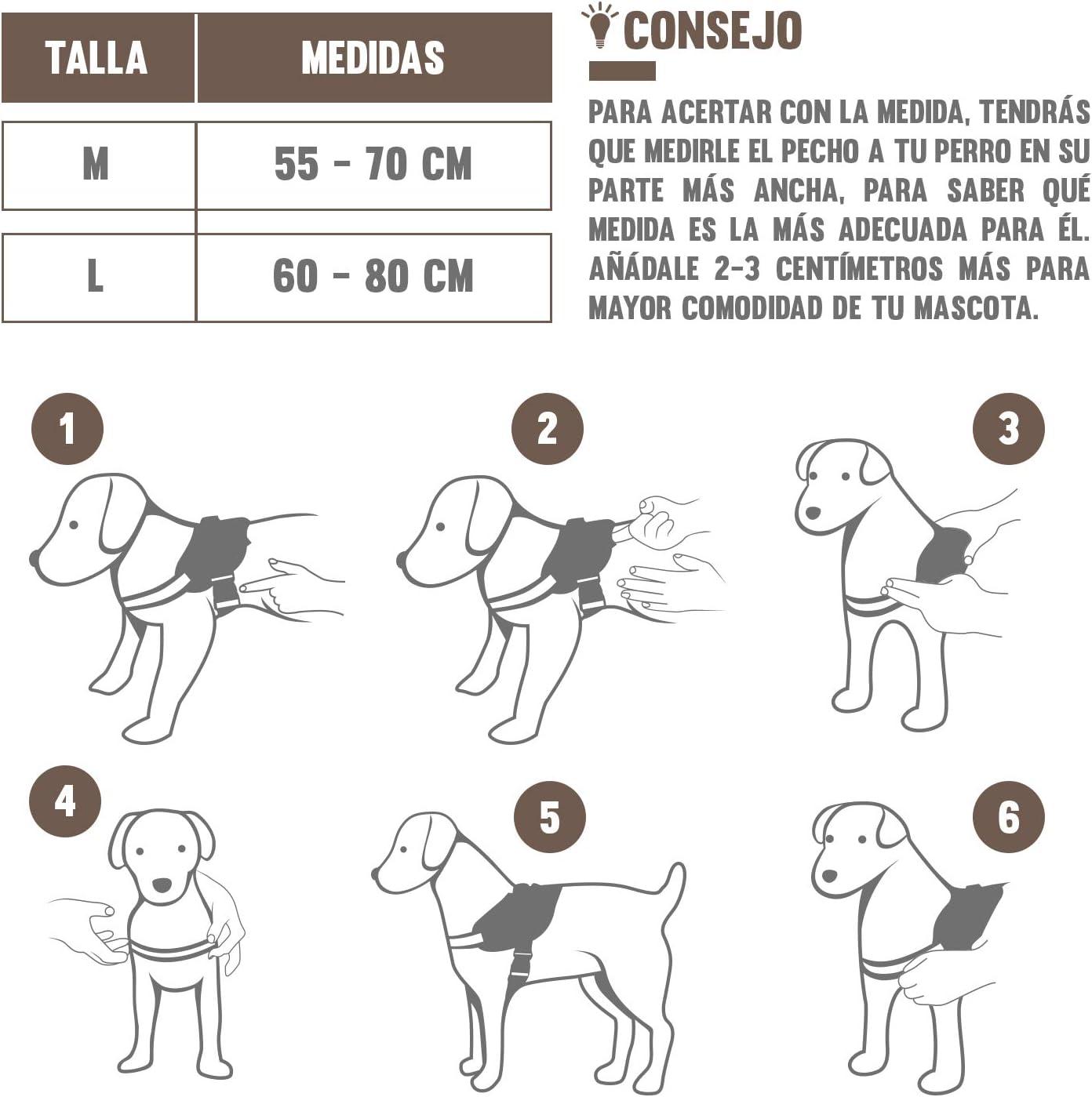EV EFECTO VERMAI Arnés para Perro Grande y Mediano | Chaleco ...