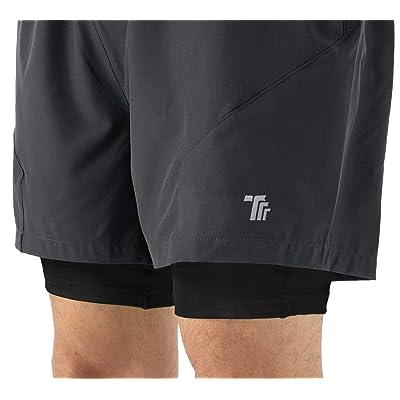 BOOMLEMON Mens Gym Shorts Cotton Athletic Shorts Workout Short Pants with Zip Pocket
