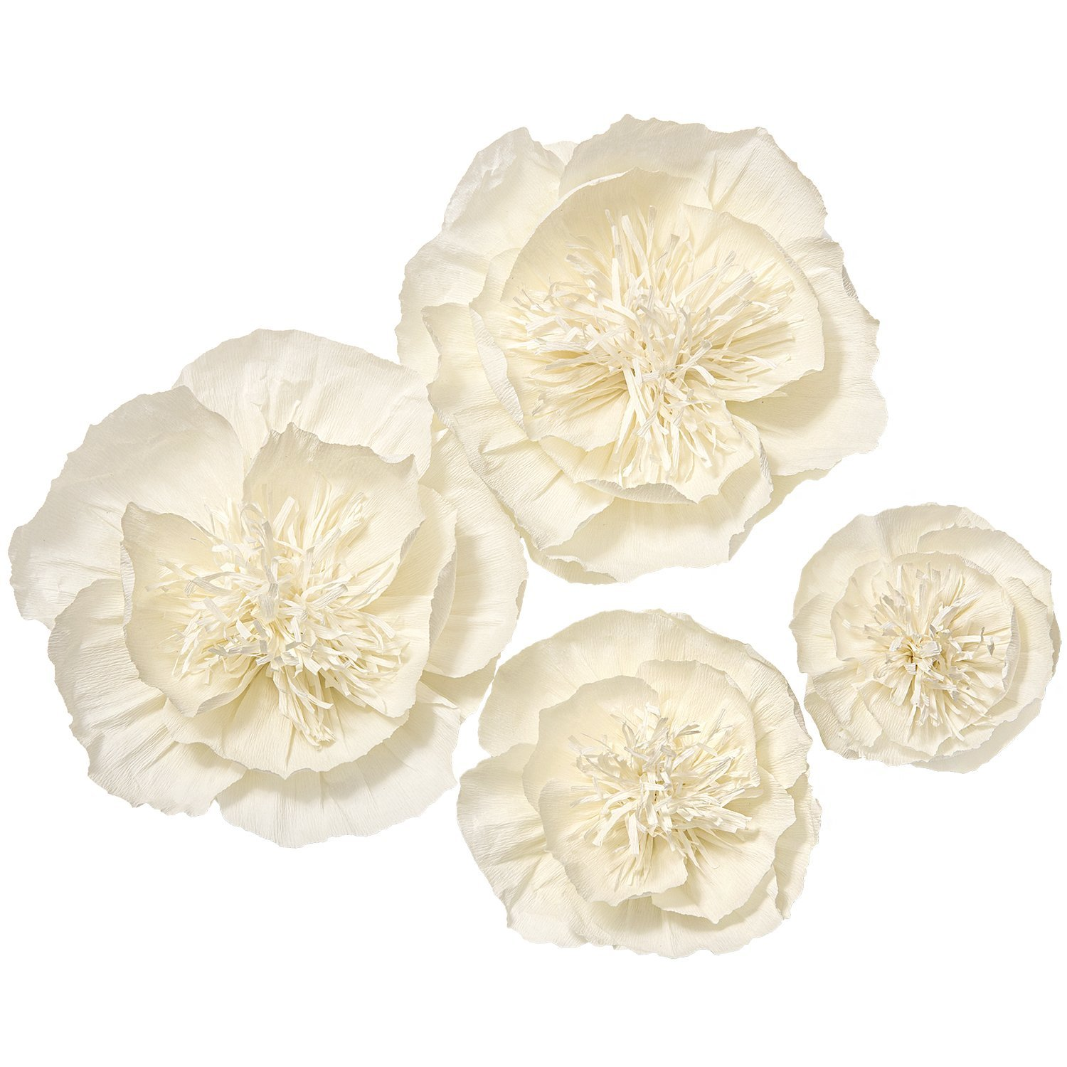 Amazon Lings Moment Giant Paper Flowers 4 X Cream White Peony