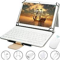 Tablet 10 Pollici Goodtel G3 con 4 GB RAM + 64 GB ROM, Quad-Core, Android 8.1 4G LTE Dual SIM Call, MicroSD da 64 GB Espandibile, Doppia fotocamera, Type-C, WiFi GPS Bluetooth Media, oro