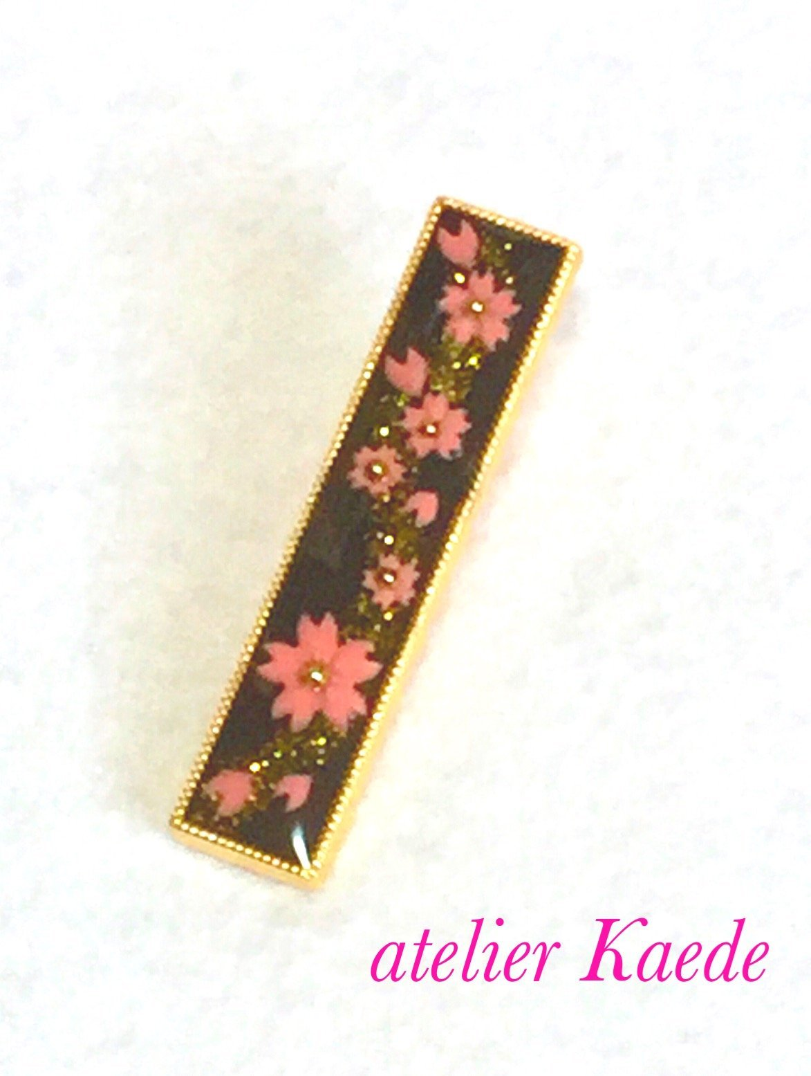 ​Japanese hair pin jewelry ''cherry blossoms in 3D world''