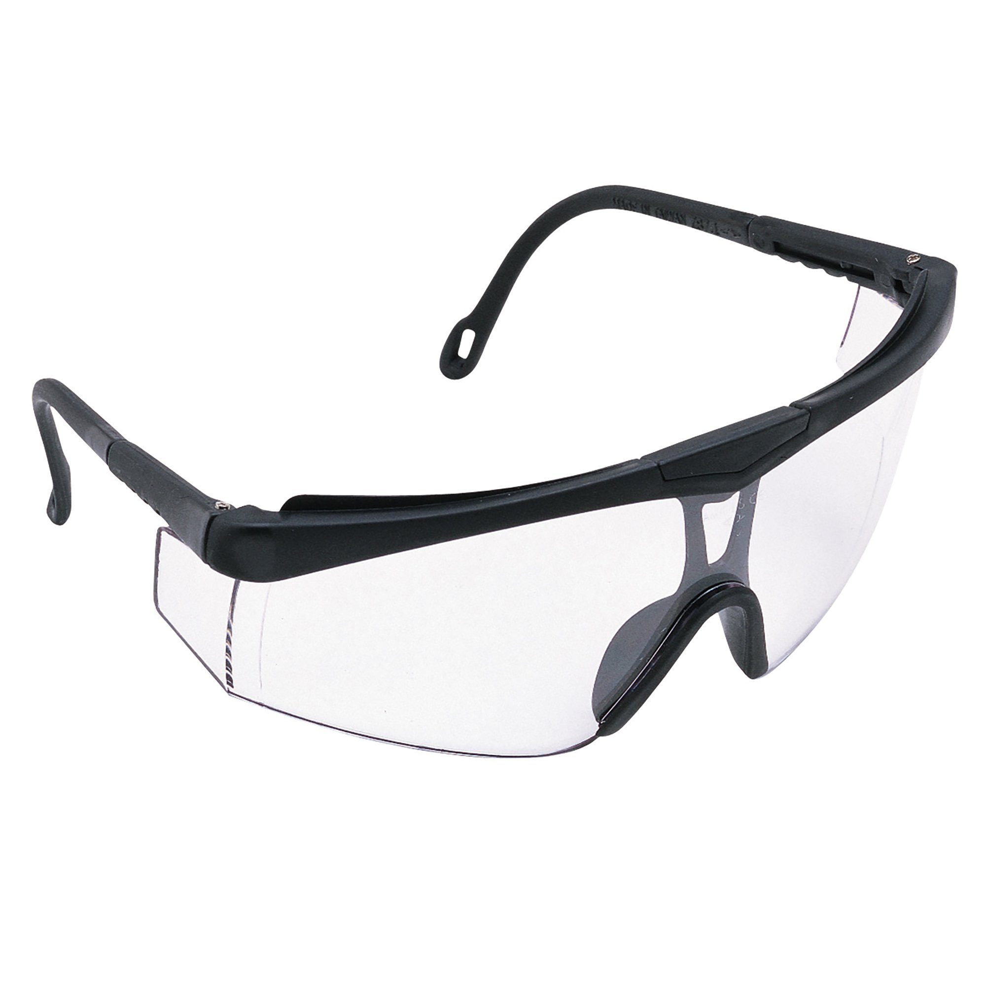 Jackson Safety Cudas Safety Glasses (14464), Adjustable Black Frame, Clear Lens, 12 Pairs/Case