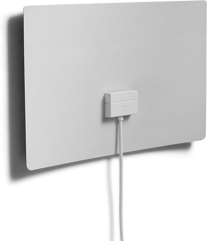 One For All SV 9440 - Antena (Interior, Negro, Blanco, 3 m, 45 dBi, Dab+,DMB, 25000 m)