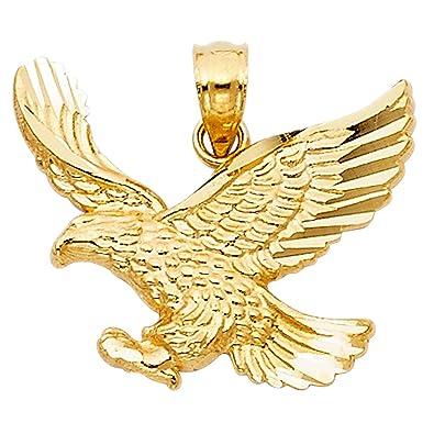 Amazon paradise jewelers solid 14k yellow gold eagle pendant paradise jewelers solid 14k yellow gold eagle pendant aloadofball Gallery