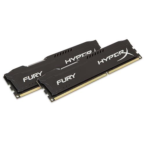 HyperX Fury Memoria RAM de 16 GB 1600 MHz DDR3 Non ECC CL10 DIMM Kit 2x8 GB Negro