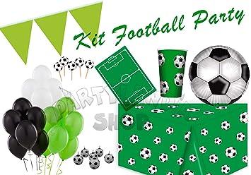 Partylandia Kit de Fiesta de cumpleaños Fútbol para 16 ...