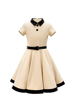 aec4e7cc4d04 BlackButterfly Kids 'Lucy' Vintage Clarity 50's Girls Dress (Champagne, ...