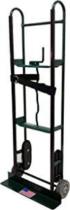 Harper Trucks 800 lb Capacity Steel Appliance Hand Truck with Offset Belt Tightener