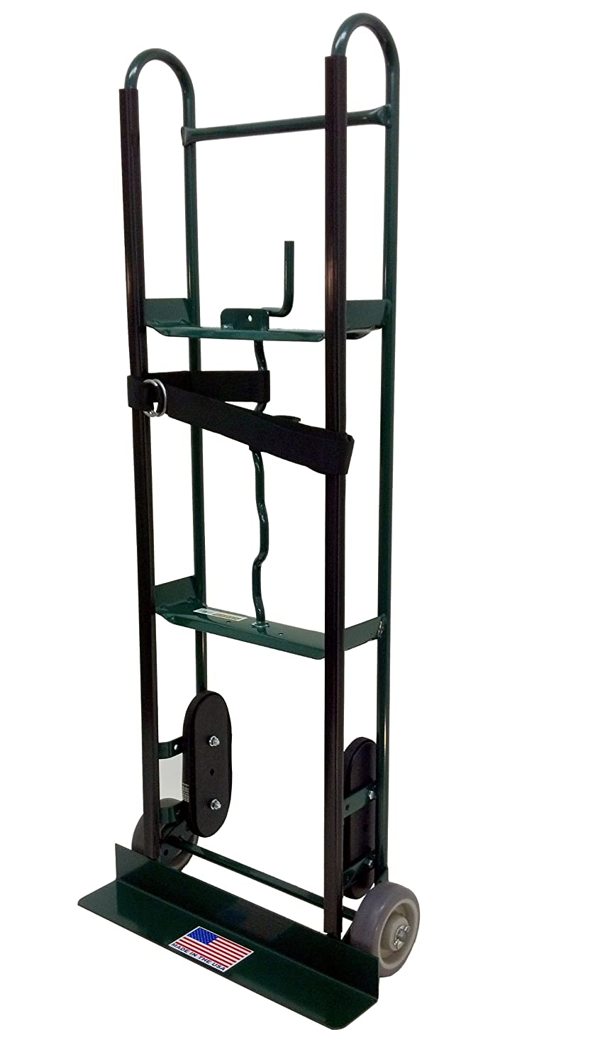 Harper Trucks 800 lb Capacity Steel Appliance Hand Truck with Offset Belt Tightener 6781UP