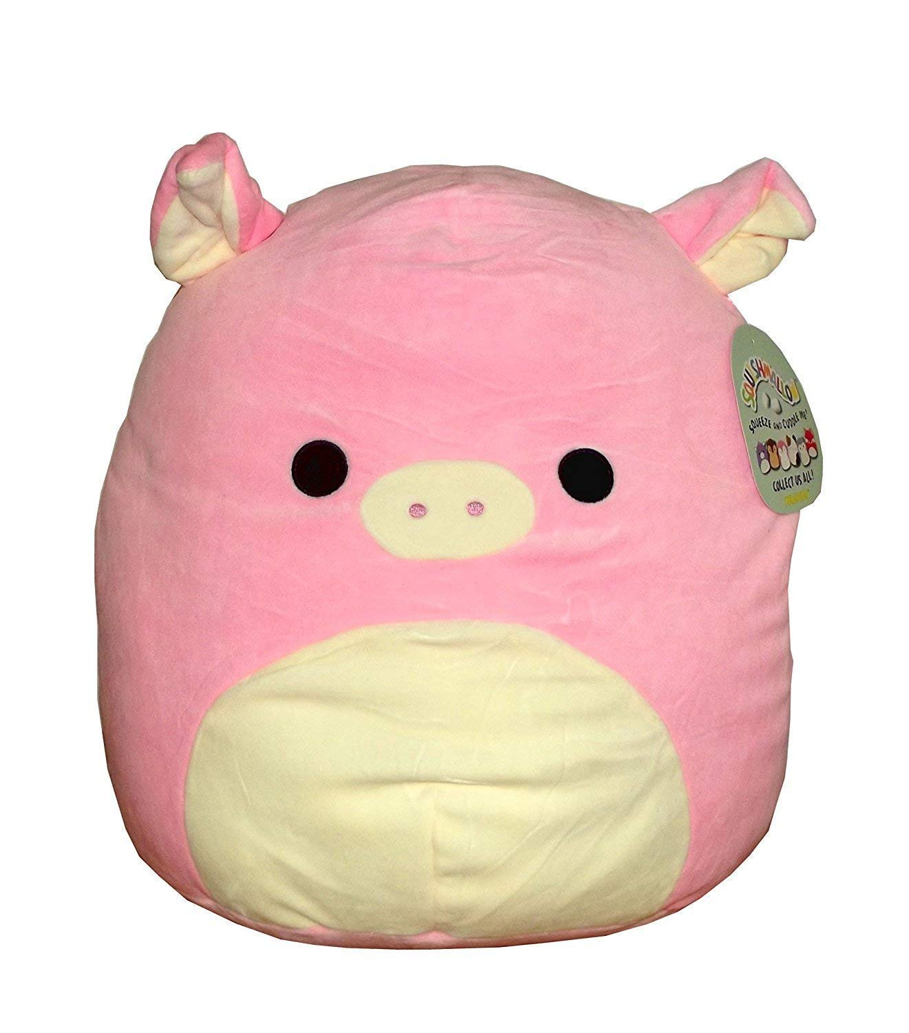 Squishmallow Kellytoy 12'' Peter The Pig- Super Soft Plush Toy Pillow Pet Animal Pillow Pal Buddy Stuffed Animal Birthday Gift Holiday Easter