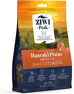 ZIWI Peak Provenance Air-Dried Dog Food – All Natural, High Protein, Grain Free with Superfoods (Hauraki Plains, 5oz)