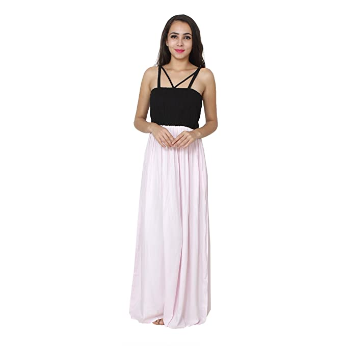 995438bcd7 Patrorna Black and Baby Pink Embroidered Blouseon Maternity Nighty  Nightdress for Women Size S-7XL  Amazon.in  Clothing   Accessories
